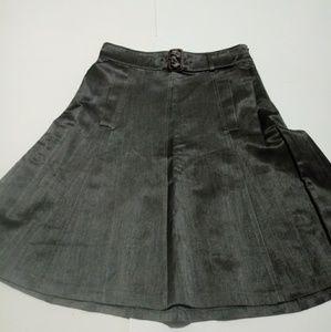 Gunex Grey Silk Blend A-line Skirt 4